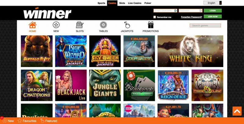 winner casino jeux