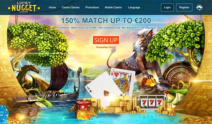 L'interface de Lucky Nugget Casino
