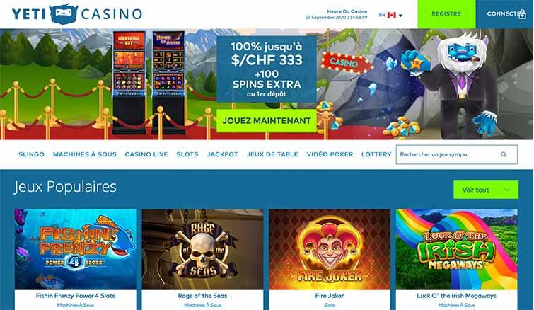 Avis Yeti Casino