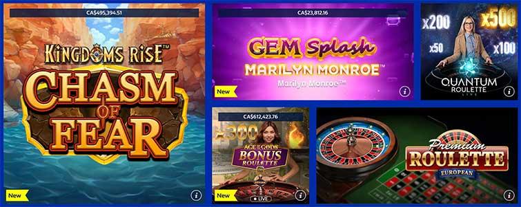 Les jeux du Casino William Hill