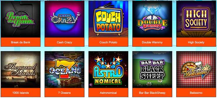 Les jeux du Casino Lucky Nugget