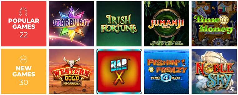 Les jeux du Vegas Luck Casino