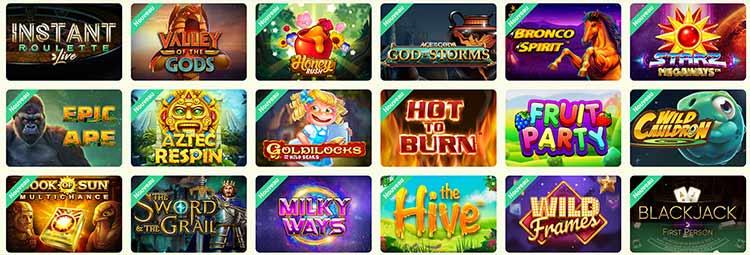 Les jeux du Yoyo Casino