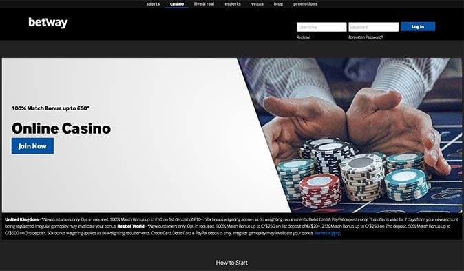 Avis Casino Betway