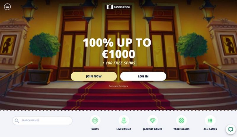 L'interface de Casino Room