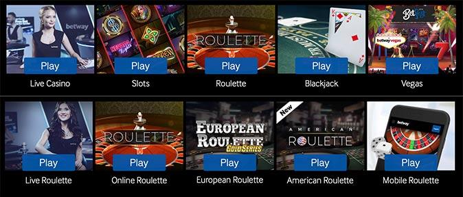 Jeux Betway Casino