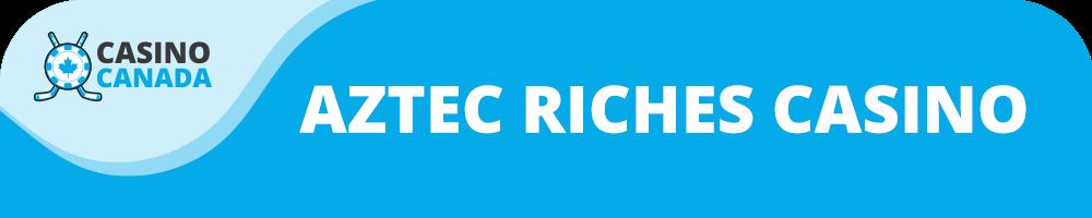 aztec riches casino banner