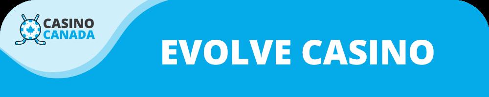 evolve casino banner