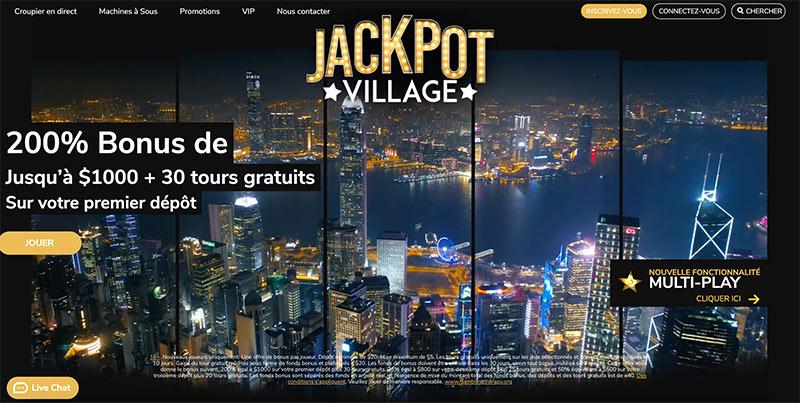 jackpot village accueil