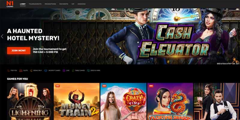 screenshot n1 casino interface